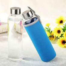 YIBO Sport Glass Drink Bottle Outdoor Children Portable Large Capacity Leakproof Sports Cup Caliber Direct
