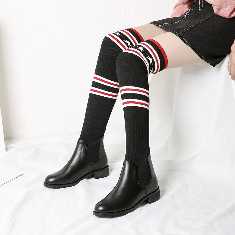 2017 Parent-child long boots princess elegant girls shoes children's snow boot size 26-39 baby child winter warm high leather
