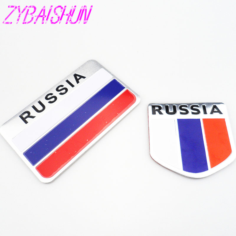 2018 High Quality 3D Aluminum Flag Russia Car Sticker Accessories Stickers for  Opel Astra VAUXHALL MOKKA Zafira Insignia Vectra