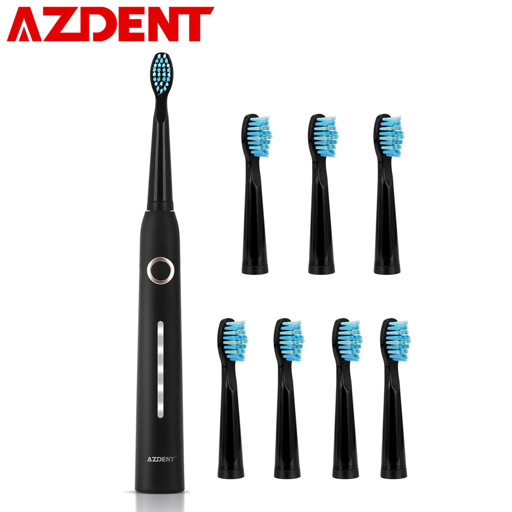 New 5 Modes AZ-9 Pro Sonic Electric Toothbrush USB Rechargeable +8 Replacement Heads Waterproof Timer For Adults Tooth Brush Hot