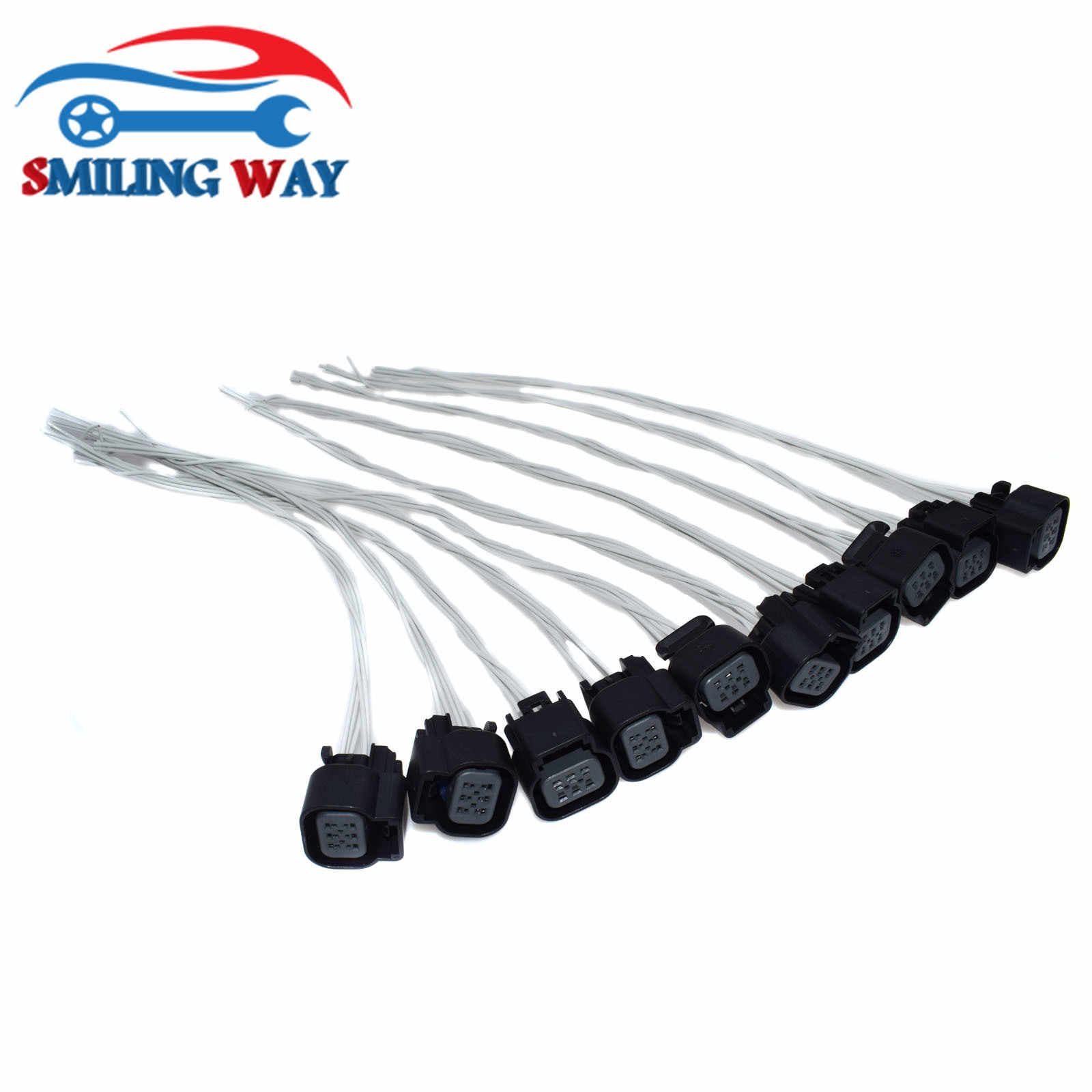 SMILING WAY# LS2 LS3 LS7 Throttle Body Actuator Connector Wire Harness  Wiring Pigtail Plug For Most GM V8 Engines 6 pins