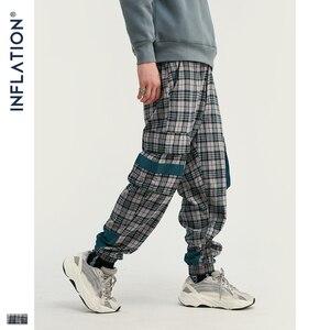 Image 1 - INFLATION Streetwear Men Plaid Jogger Pants  Joggers Casual Pants 2020 Man Hip Hop Pants Plus Size Jogger Casual Pants 93367W