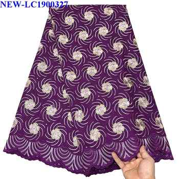 Nigerian Lace fabrics 2019 African Swiss Voile Lace High Quality Swiss Voile Lace Fabric in Switzerland For Wedding dress NJE05 - DISCOUNT ITEM  27 OFF Home & Garden