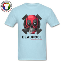 Punisher Deadpool Skull Ilustrator Top T-shirts Marvel Avengers Heroes Tshirts Summer/Autumn Shirts Popular Pure Cotton
