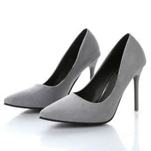 Spring and autumn new nude color pointed women's shoes are sexy and high heels Fine with