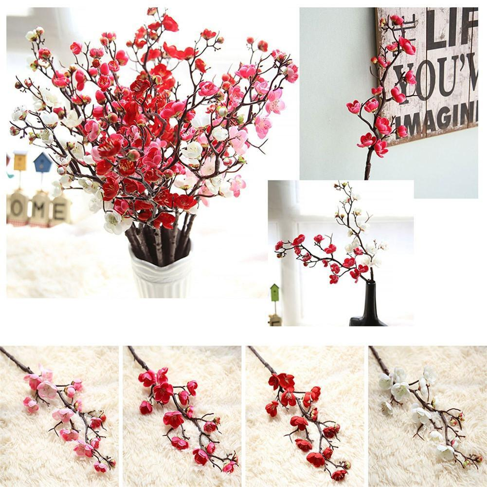 Wedding Decoration Artificial Flowers Plum Cherry Blossom Branch