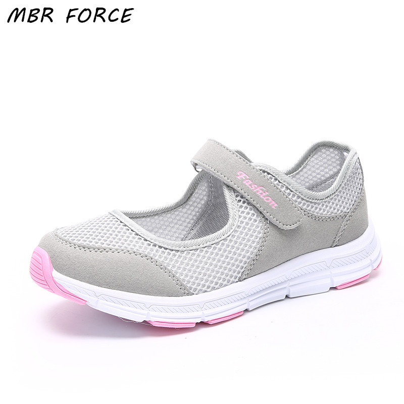 MBR FORCE Women Shoes Casual Sport Flats Fashion Shoes Walking Spring Summer Loafers Breathable Air Mesh Walking Shoes
