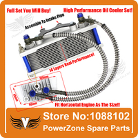 Full Sets Monkey Bike DAX JC 70 90 110cc Motorcycle Oil Cooler Radiator Cooling Parts Fit