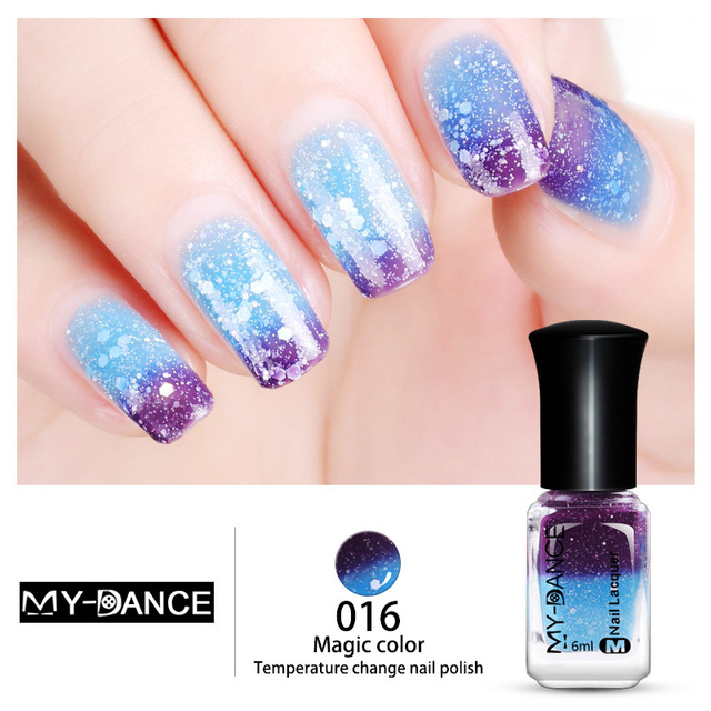 High Quality Water Based Temperature Colour Changing Nail Polish Non Toxic Thermal Fashion Manicure