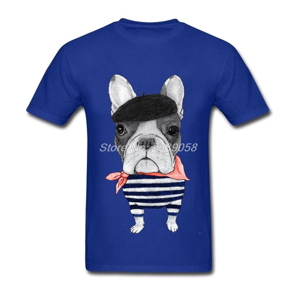 Лидер продаж Для мужчин футболки короткий рукав frenchie бульдог Футболка Прохладный Hipster Для мужчин брендовая одежда Camisetas