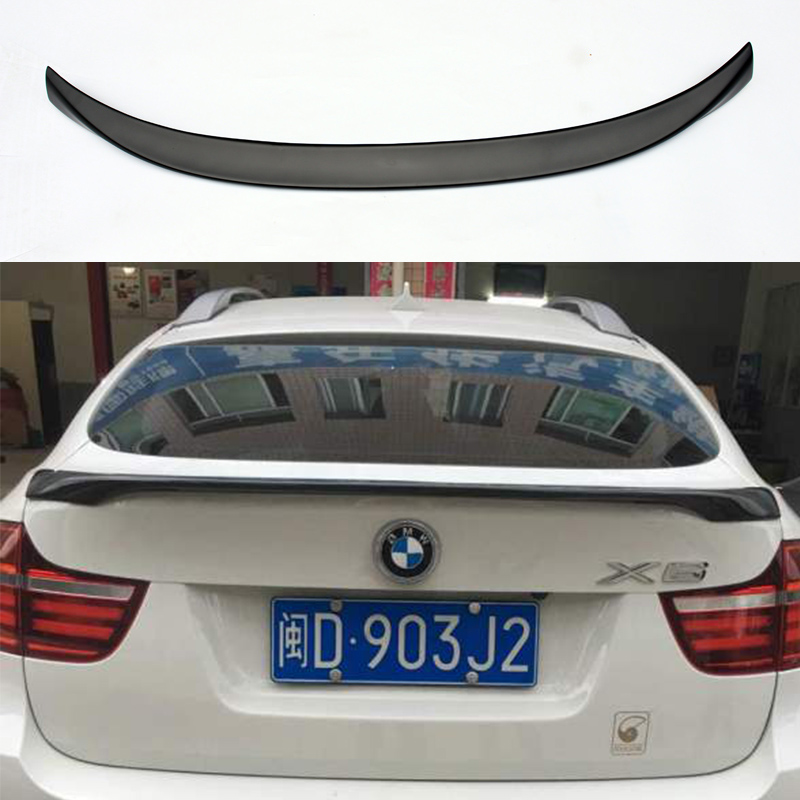 ФОТО X6 E71 M-Performance Style FRP Primer Auto Car Rear Trunk Spoiler Wing for BMW X6 E71 2008-2013