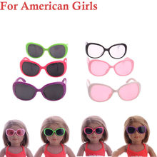 Kids Toy Baby Funny Toys For Boy Girl Accessory Toy Daily Costumes Doll sun glasses For 18 Inch Girl Doll(China)