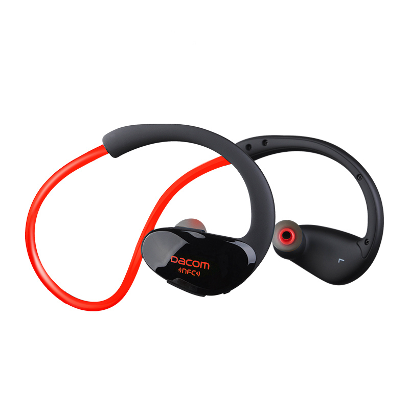 Dacom Athlete Bluetooth 4.1 headset Wireless headphone sports stereo earphone with microphone & NFC For iphone Huawei xiaomi rock y10 stereo headphone earphone microphone stereo bass wired headset for music computer game with mic