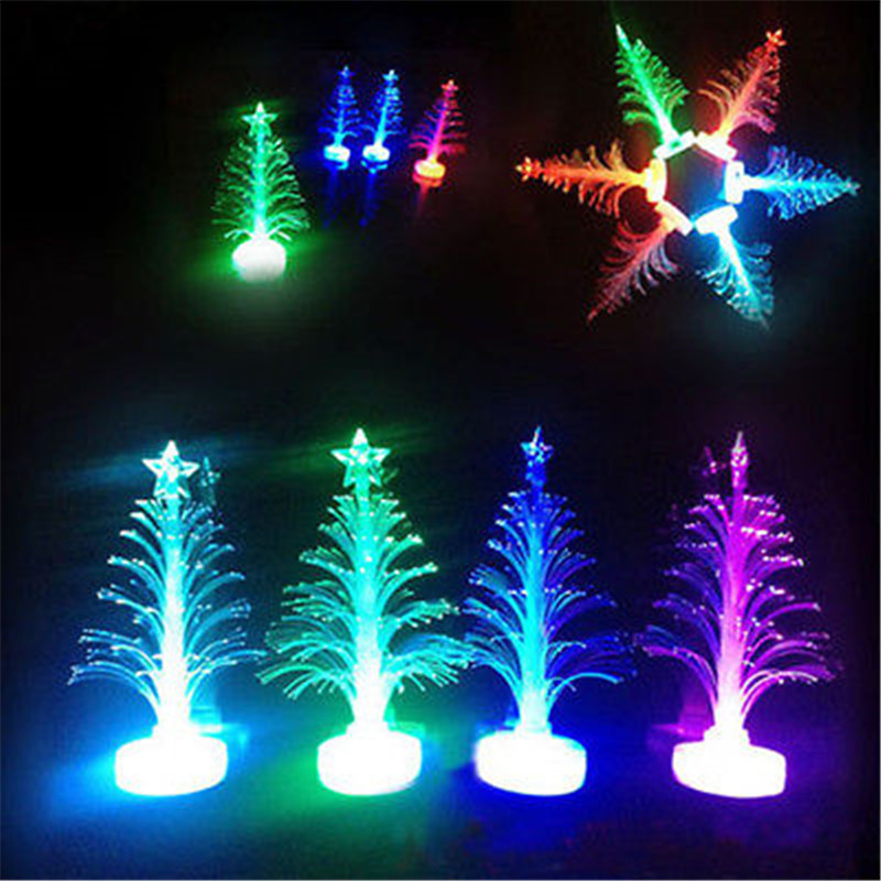 Buy 2016 hot color changing fiber optical for Color changing christmas tree lights