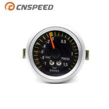 CNSPEED 52 мм Бар турбо Boost Gauge с датчиком автомобильный измеритель машинное оборудование углеродное волокно лицо автомобиля турбо Boost метр YC100032