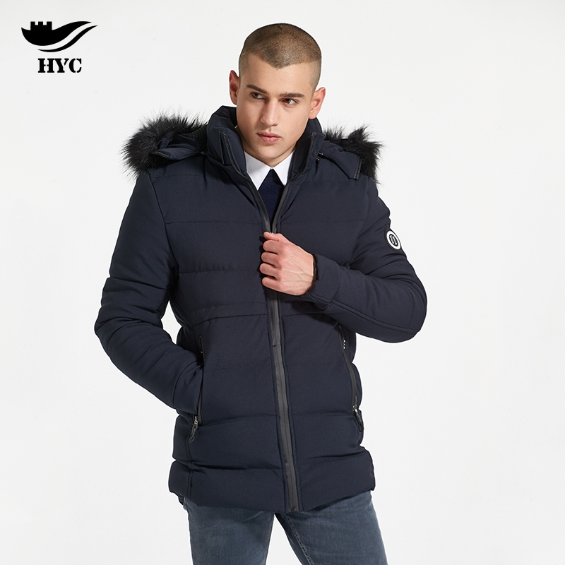 HAI YU CHENG Jacket Male Coat Winter Brand-Clothing Parka Fur Coat Feather Jacket Long Parka Man Waterproof Windbreakers For Men
