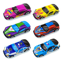 2pcs/lot Colorful PVC Cartoon Pull Back Cars model Toys for Kids Christmas gift