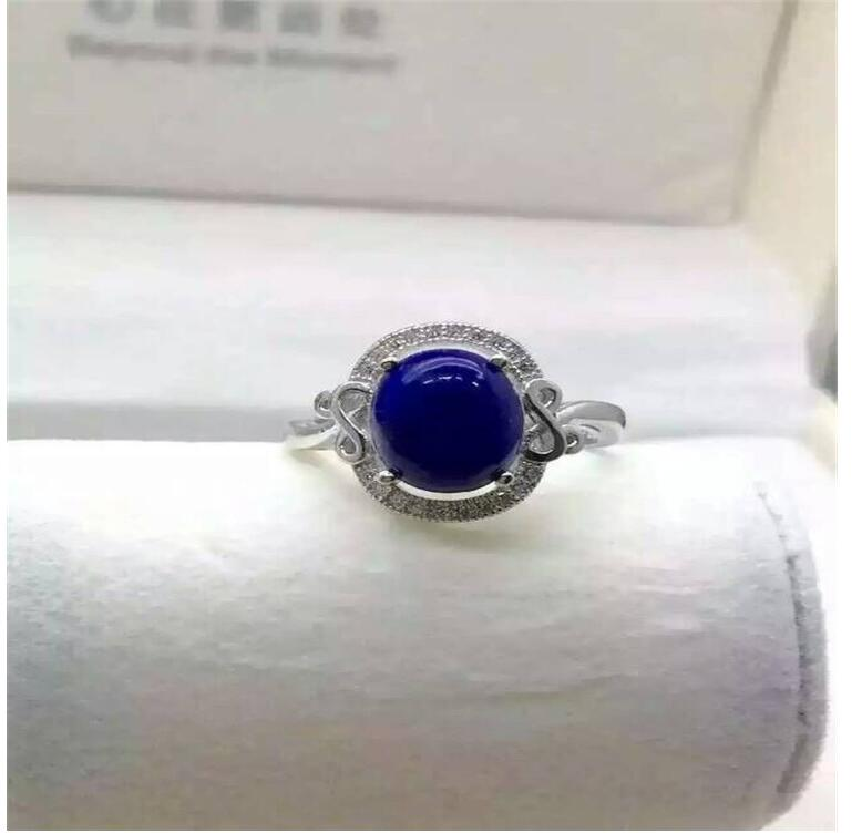 Natural Lapis ring Free shipping Natural real Lapis 925 sterling silver Ring Per jewelry 8*10mmNatural Lapis ring Free shipping Natural real Lapis 925 sterling silver Ring Per jewelry 8*10mm