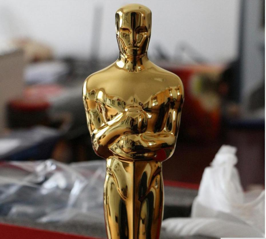 Bronze Oscar Trophy Statue Award Gold plated 1:1 Oscars Statuette 100% Prototype Replica Gift Packageing