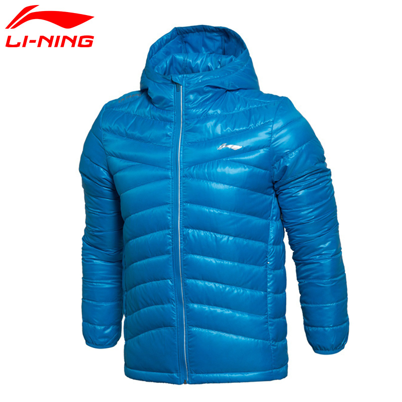 Li-Ning Men Training Short Down Jacket Warm Keep Classic Comfort LiNing Winter Jackets AYMK109 MWY246 li ning men wade short down jacket at proof wind comfort lining winter jackets aymm183 mwy267