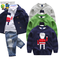 Boys Sweaters Autumn Pullover Sweater Autumn 2016 Children Clothing Child Cartoon Boy Sweaters Kids Winter Sweater 2016 Soldiers