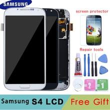 5.0 شاشات lcd لسامسونج غالاكسي S4 شاشة الكريستال السائل مع الإطار GT i9505 i9500 i9505 i9506 i9515 i337 محول الأرقام بشاشة تعمل بلمس