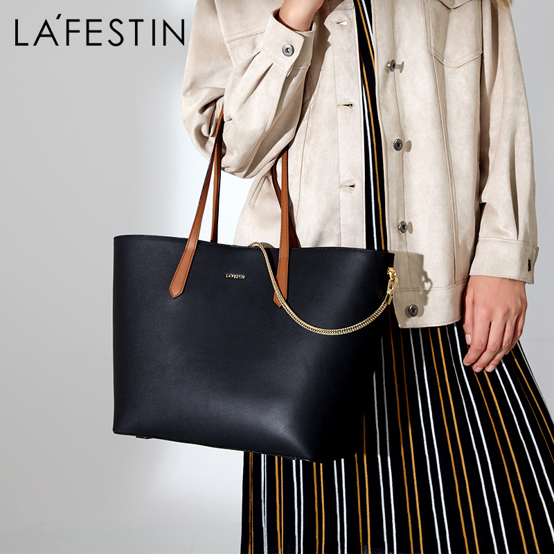 LA FESTIN 2019 New Female Totes Simple large capacity handbag fashion shoulder bags with Small clutch