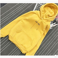 Hot Sell Spring Autumn Winter Fleece Letter Harajuku Print Pullover Thick Loose Women Hoodies Sweatshirts Female
