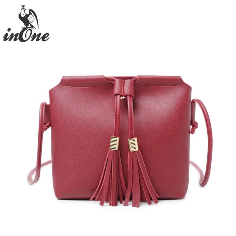 INONE 2018 Ladies Hand Bags Cell Phone Women Messenger Crossbody Shoulder Bags Squre Vegan Faux Leather Handbag Cute Purse shoulder bag