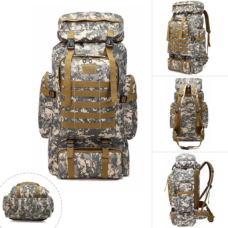 Outdoor Large Capacity Tactical Backpack Military Waterproof Camouflage Shoulder Bag Climbing Travel Hiking Trekking Bag