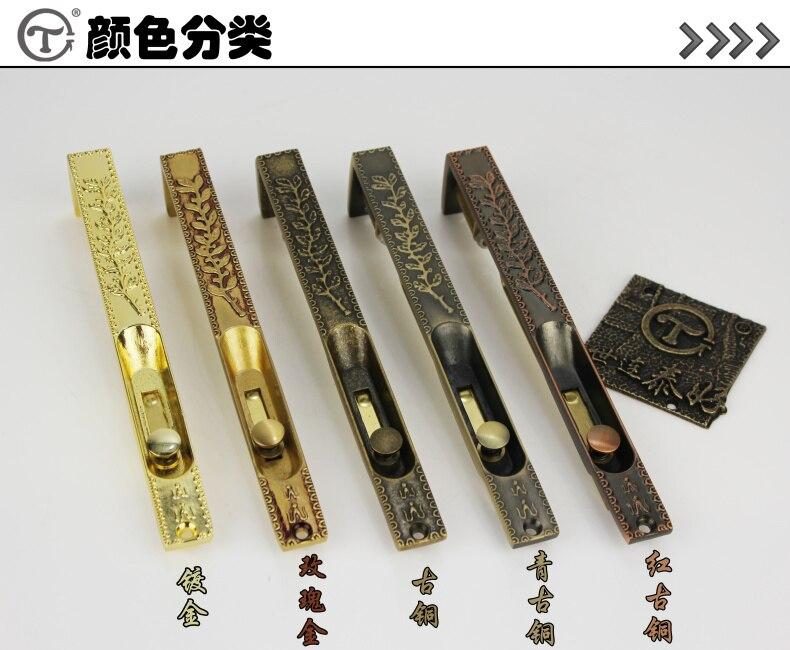 Taiwan world Lian Tai good copper lock, 8 inch bolt, all copper door, iron gate, heaven and earth bolt, DR 08 single price inov 8 сумка all terrain kitbag black