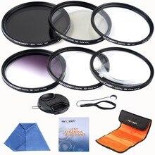 K & F концепция 55 мм Slim UV CPL FLD ND4 + макрос закрыть + 4 + 10 + Наборы для чистки фильтр для объектива Nikon D7100 D5100 D3100 D3200 D7000