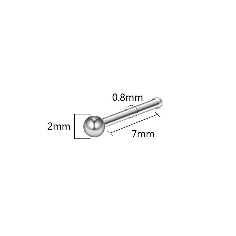 1PC Sexy Cartilage Piercing Small Nose Ring Ear Rings Heart Ear Stud Piercing Stainless Steel Crystal Nose Stud Body Jewelry