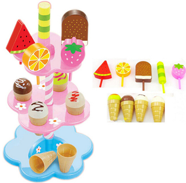Baby Toys Simulation Ice Cream Toys Set Pretend Play Kitchen Food Baby Infant Toys Food Birthday/Christmas Gift