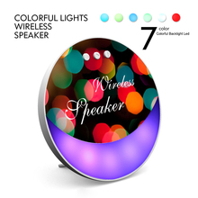 Bluetooth Speaker Portable Wireless Player 7 Color Colorful Backlight Led With MIC Support TF Card For Smartphone