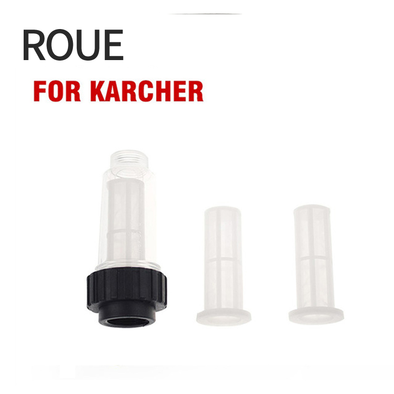 ROUE D'entrée D'eau Filtre G 3/4 Montage Moyen Compatible avec tous les Karcher K2-K7 série pression rondelles 1 pc Avec Deux Filets
