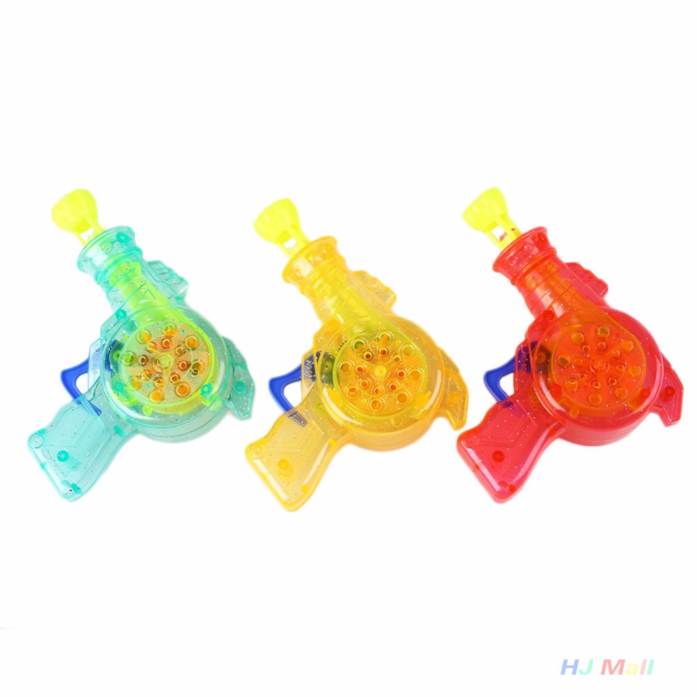 LED Shining Bubble Gun Soap Bubbles Bubble Blower Outdoor Kids Toys For Children Baby Water Gun juguete pistola de burbujas