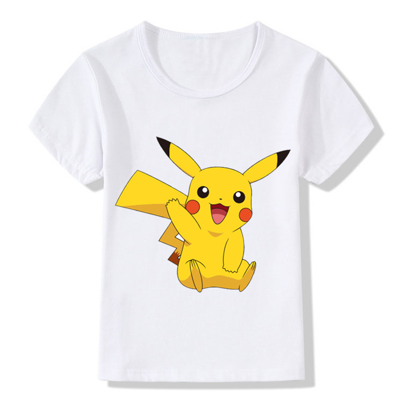 2018 New Arrival Children POKEMON GO T-Shirts Kids Summer Tops Girls Boys Short Sleeve T Shirt Cute Pikachu Baby Clothes,ooo2080