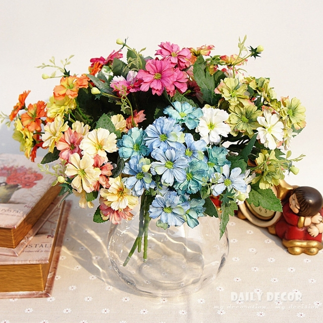 10 bouquet! Nice Watercolor painting Fake small Daisy Artificial ...