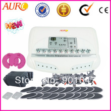 Au-6804 Factory Price Best New Russian Button Electrical Muscle Stimulator Muscle Tightening Electro Acupuncture Machine for Spa