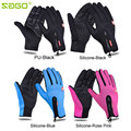 Autumn Winter Touch Screen Windproof Outdoor Sport Gloves For Men Women Motorcycle Gloves PU Silicone Full Finger Bike Motocross