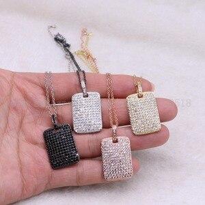 """Image 5 - 5 גידים מלבן שרשרת נוצץ סיטונאי תכשיטי שרשרת 18 """"תכשיטים אבן אבני חן תכשיטי מתנה עבור נשים 3526"""