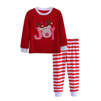 Kids Long Sleeve Red Set 2pcs Autumn Winter Toddler Baby Boys Girls Pajamas Striped Outfits Christmas