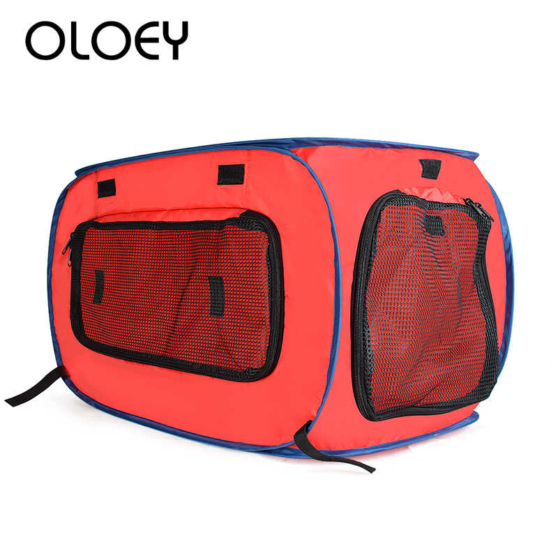 Original Pet bolsa para transportar la portátil Oxford Cloth Pet Dog Cat bolso transpirable bolsa de viaje al aire libre Correa Pet Car Carrier bolsas