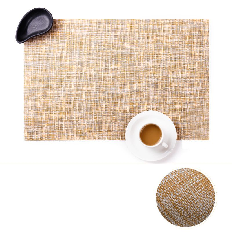 Hot Nordic Style Placemat Pvc Dining Table Mat Disc Pads Bowl Pad Coasters Waterproof Table Cloth Pad Slip-resistant Pad