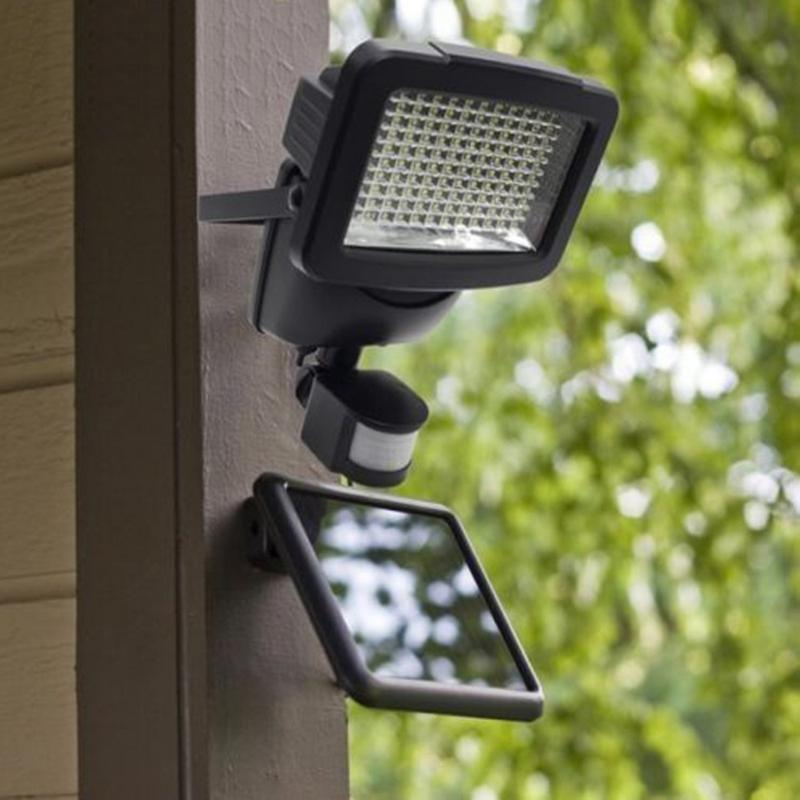 60LEDs Solar Wall Light Outdoor Garden Security Lamp PIR Motion Sensor Yard Wall Light for Pathway Emergency Illumination