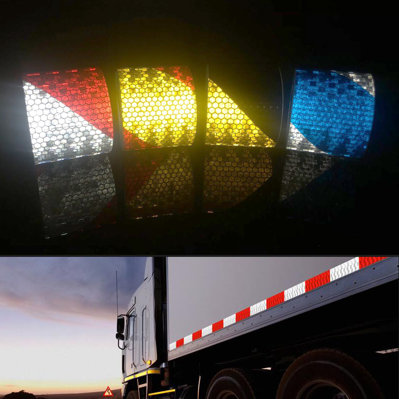 Купить с кэшбэком 5cmx5m Reflective tape stickers car-styling Self Adhesive Warning Tape
