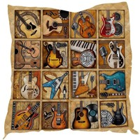 Summer Guitar Print Quilt For Kids School Adults Bed Soft Warm Thin Blanket Cotton Quilt King Size Wholesale Custom Pattern