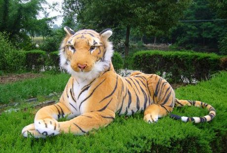 stuffed animal 30cm plush tiger toy about 12 inch simulation tiger doll great gift  free shipping w010 simulation animal huge tiger doll about 110x 70cm plush toy high quality birthday gift christmas gift t3442