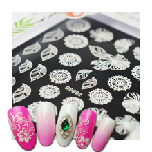 1pcs New Nail Art Sticker 3d Flower White Lace Summer Design Self Adhesive Nail Art Decoration Decal Slider DIY Tips SADP201-224